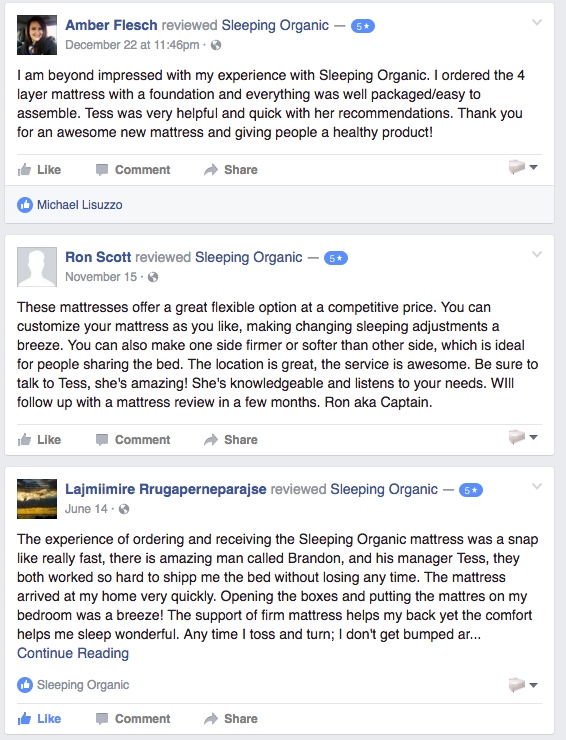 Sleeping Organic Reviews