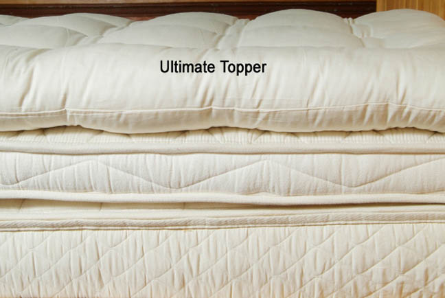 mattress topper made from wool photo