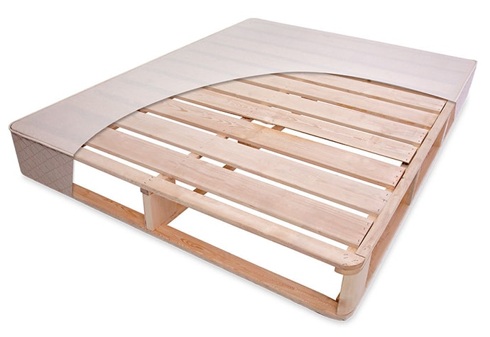 Solid wood latex mattress foundation