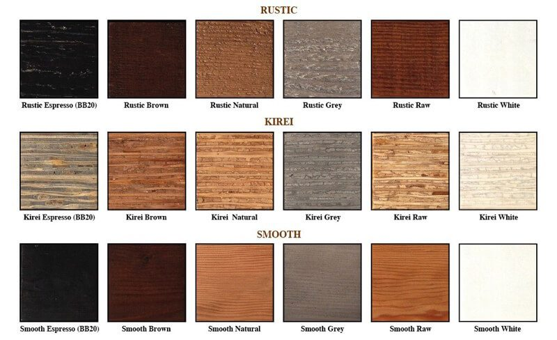 wood finishes for Urban Woods platform beds