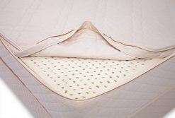 organic mattress cover that zips completely open