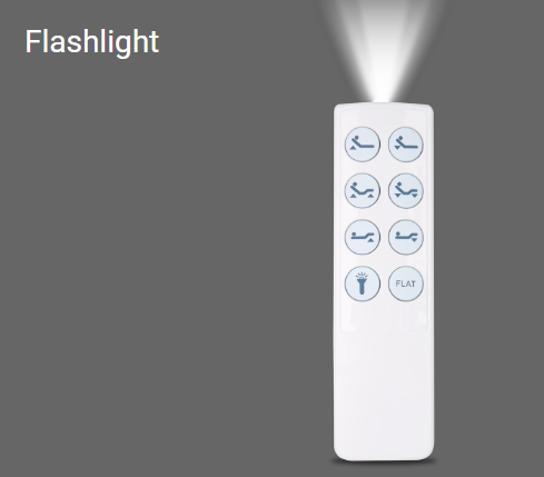adjustable bed control flashlight