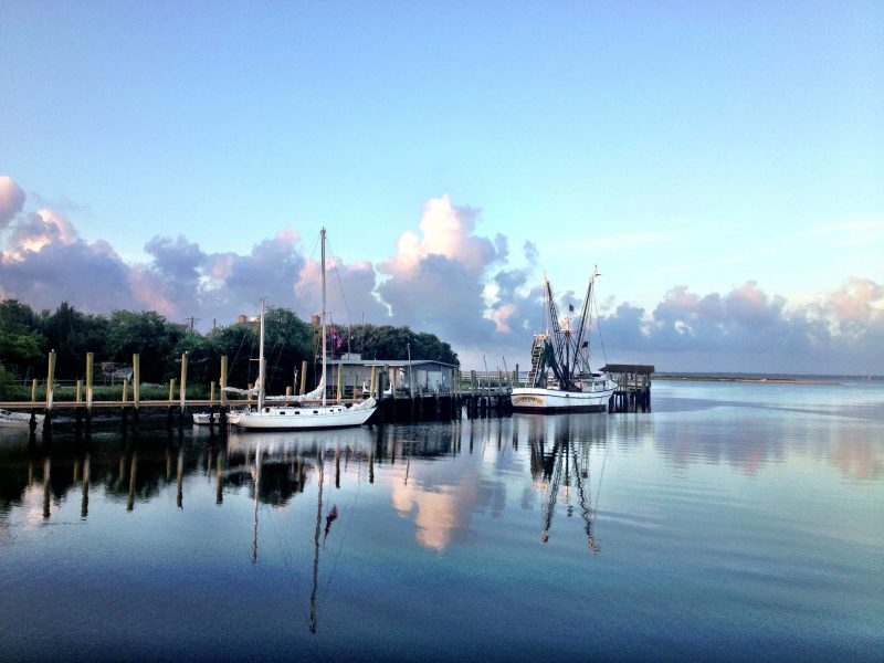 shem creek sunrise in mount pleasant